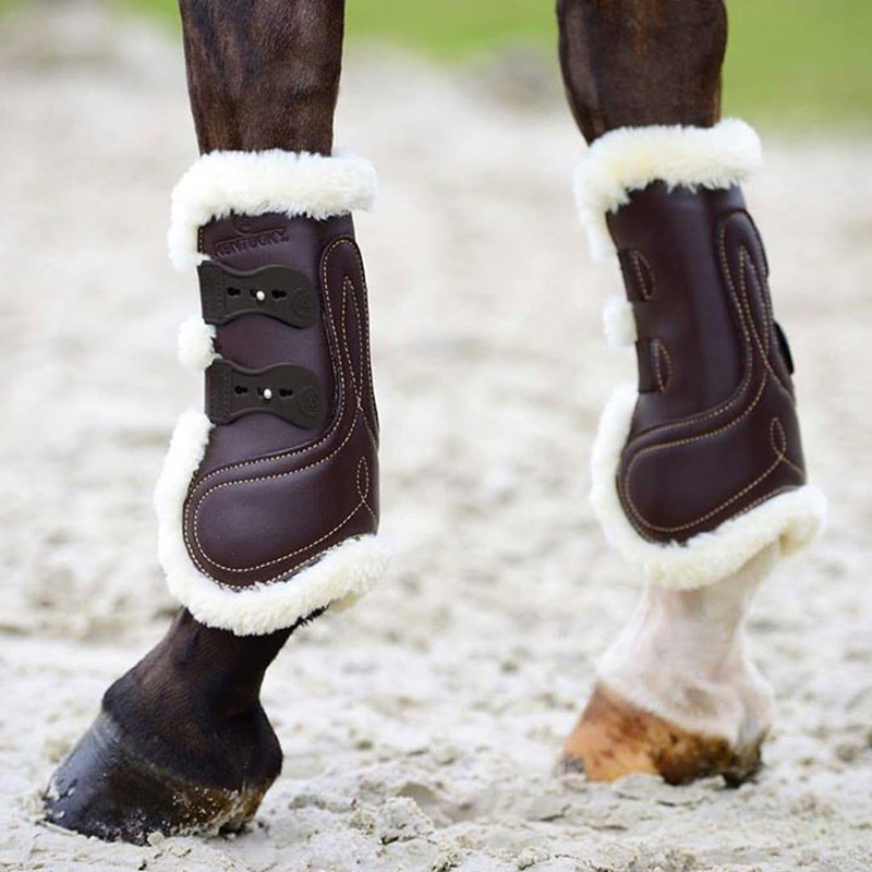 Kentucky Leather Tendon Boots With Artificial Sheepskin